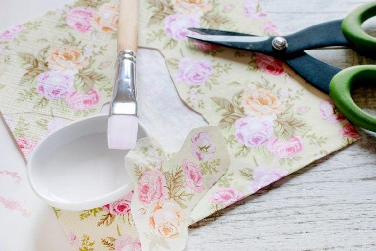 2 cosas que puedes decorar con decoupage