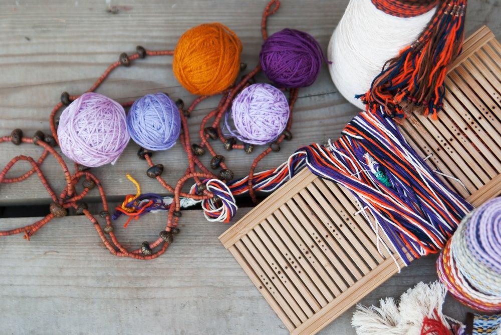 Telas de lana.