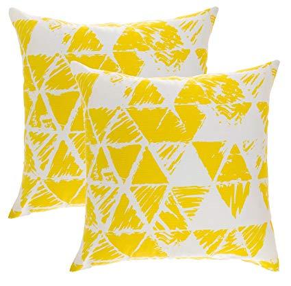 Triángulos amarillos.