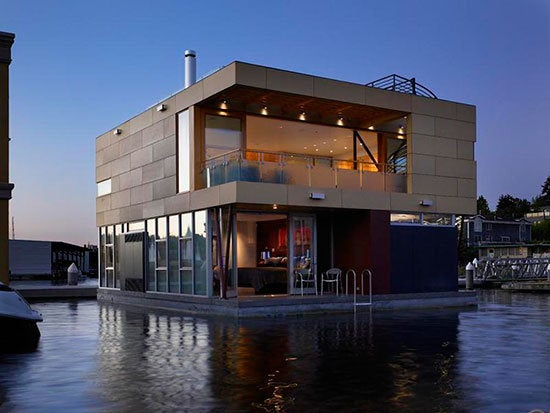 Casa flotante en Seattle.