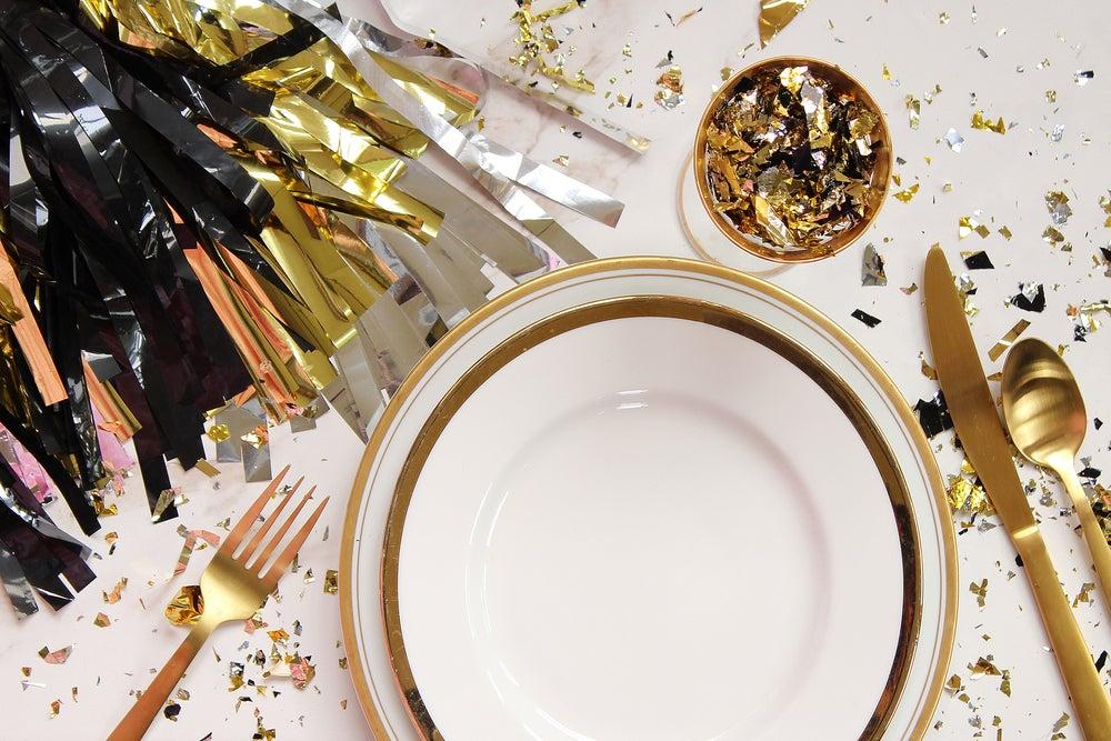 Cena en Nochevieja.