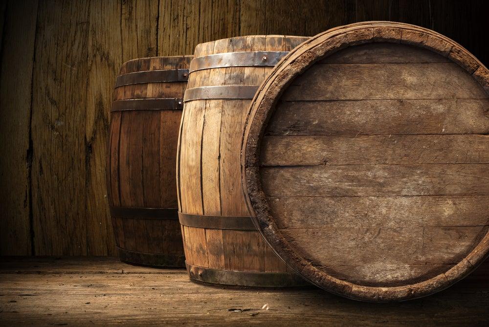 Uso de barriles para la decoración