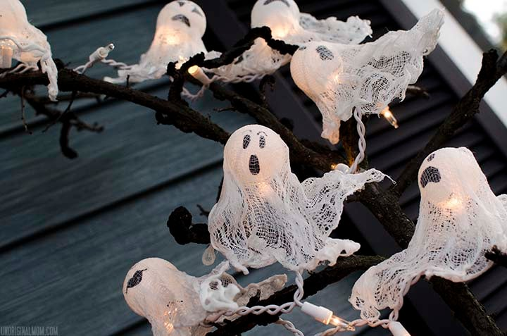 3 decoraciones para Halloween con fantasmas.