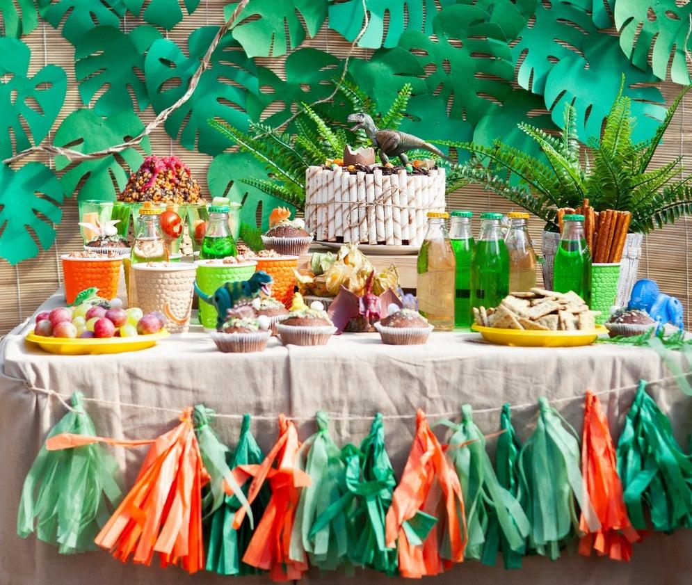 Temática de dinosaurios para decorar una fiesta infantil
