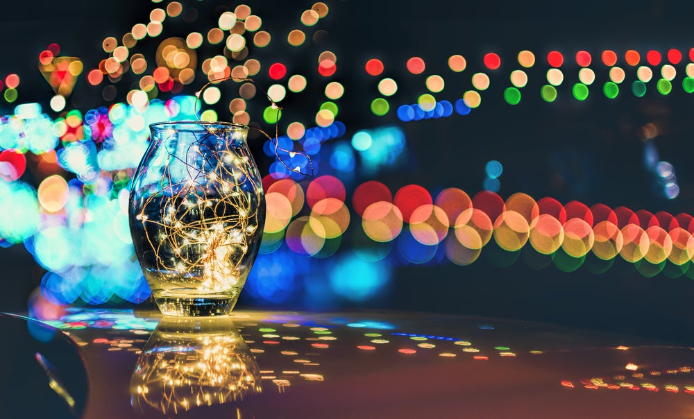 Frasco de luces.