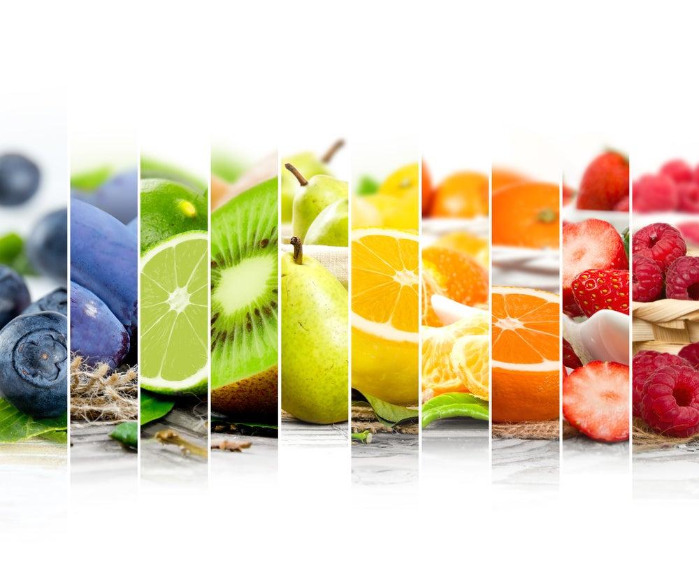 Fruta por colores.