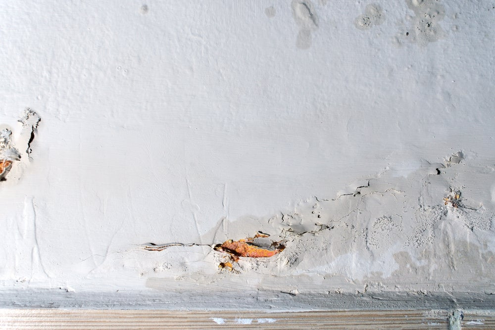 Moisture in the walls.