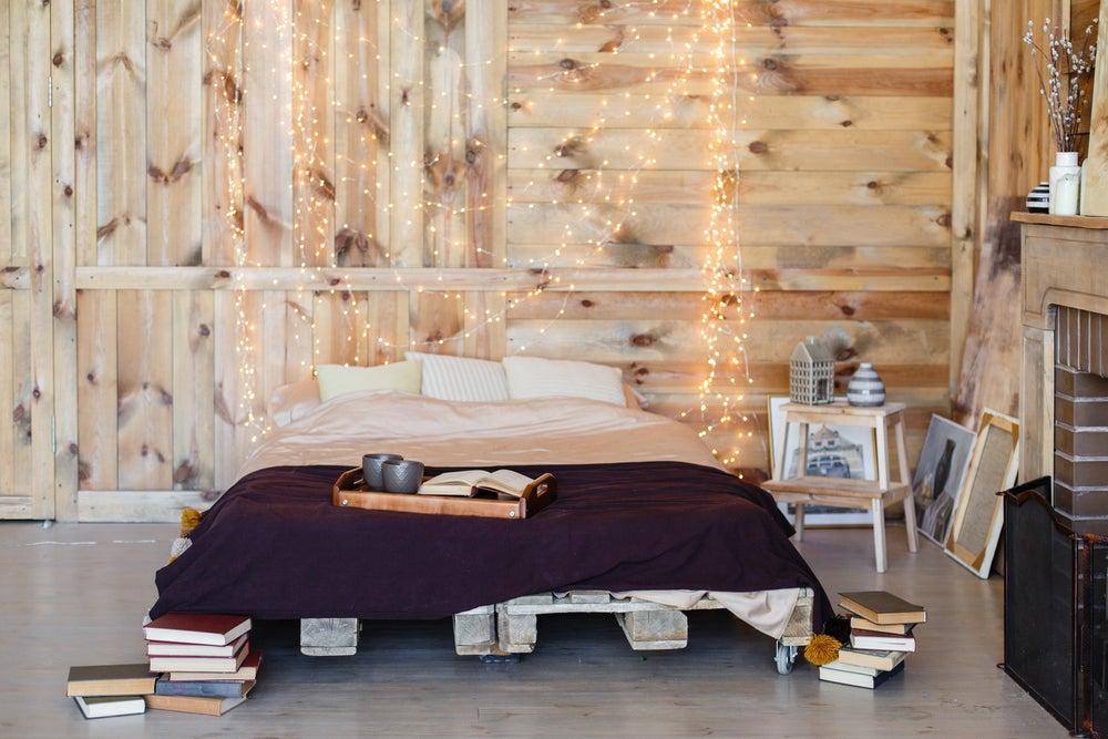 Libros en la cama.