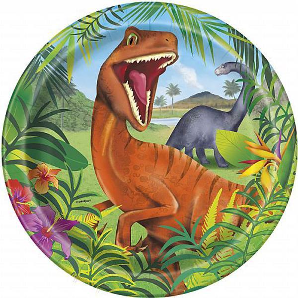 Platos de dinosaurios.