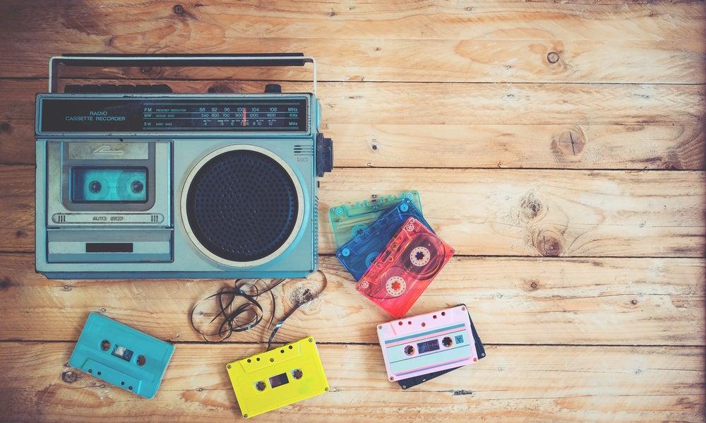Radio cassette cintas.