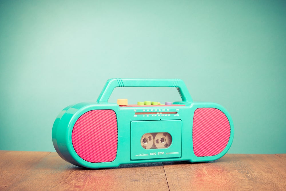 Radio cassette pop art.