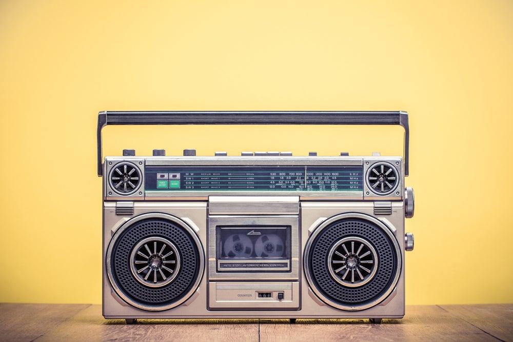 Radio cassette vintage.