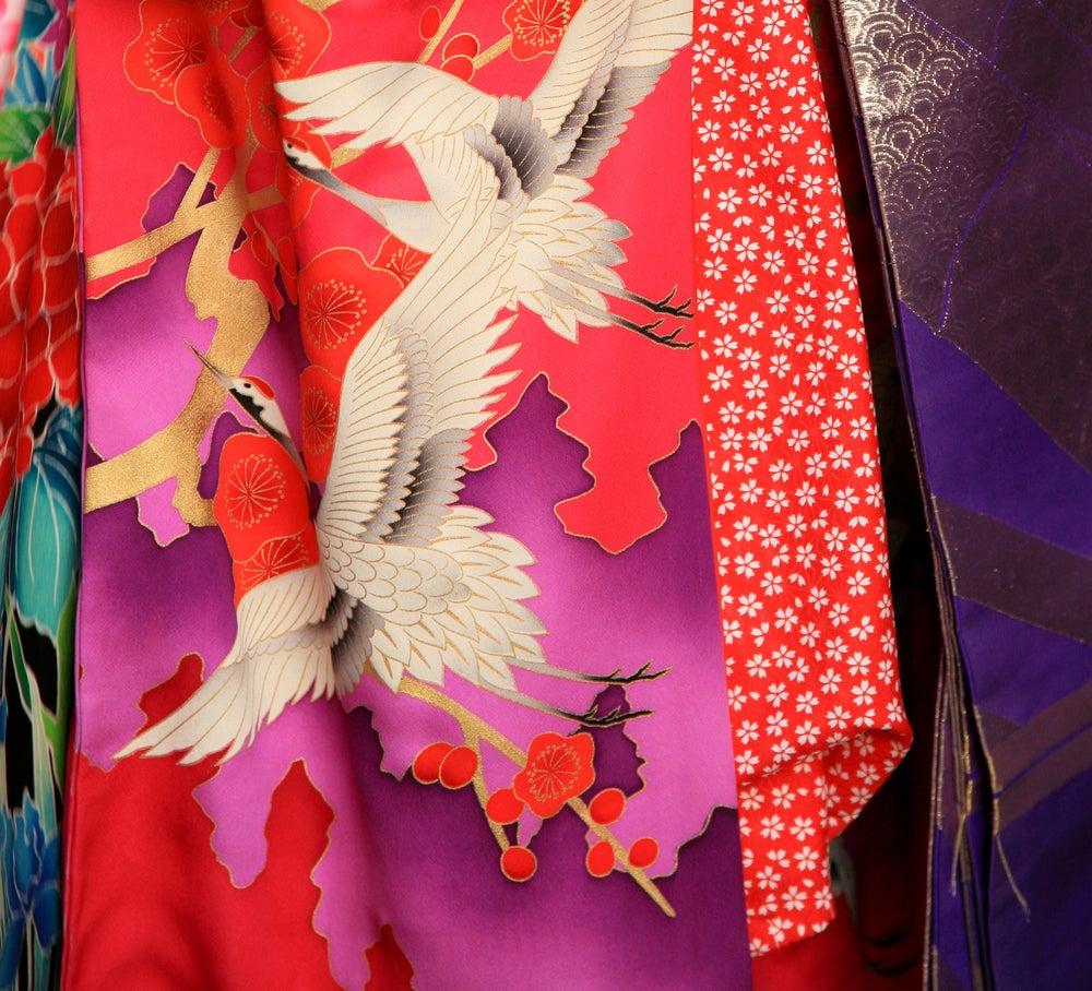 Tela de kimonos.