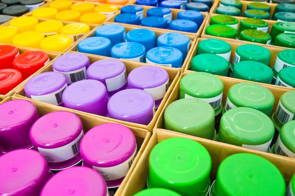 Colores de aerosoles.