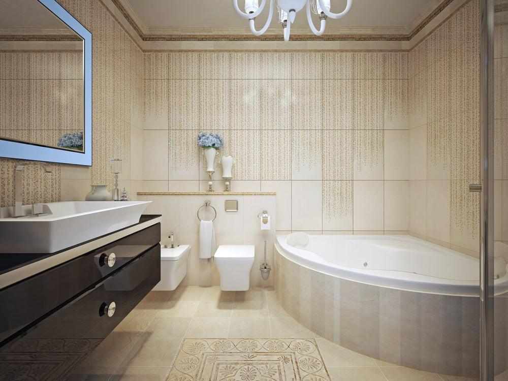 Baño vanguardista.