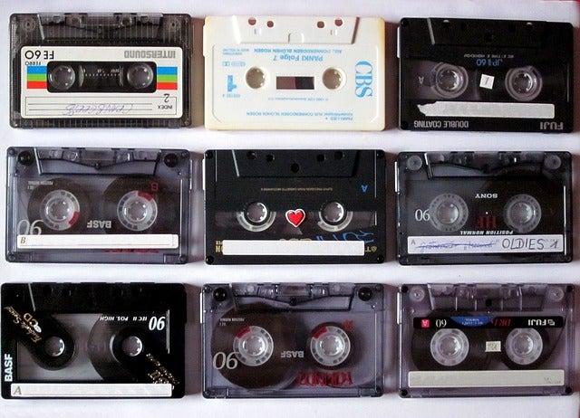 Decoración con cassette: una forma de hacer upcycling