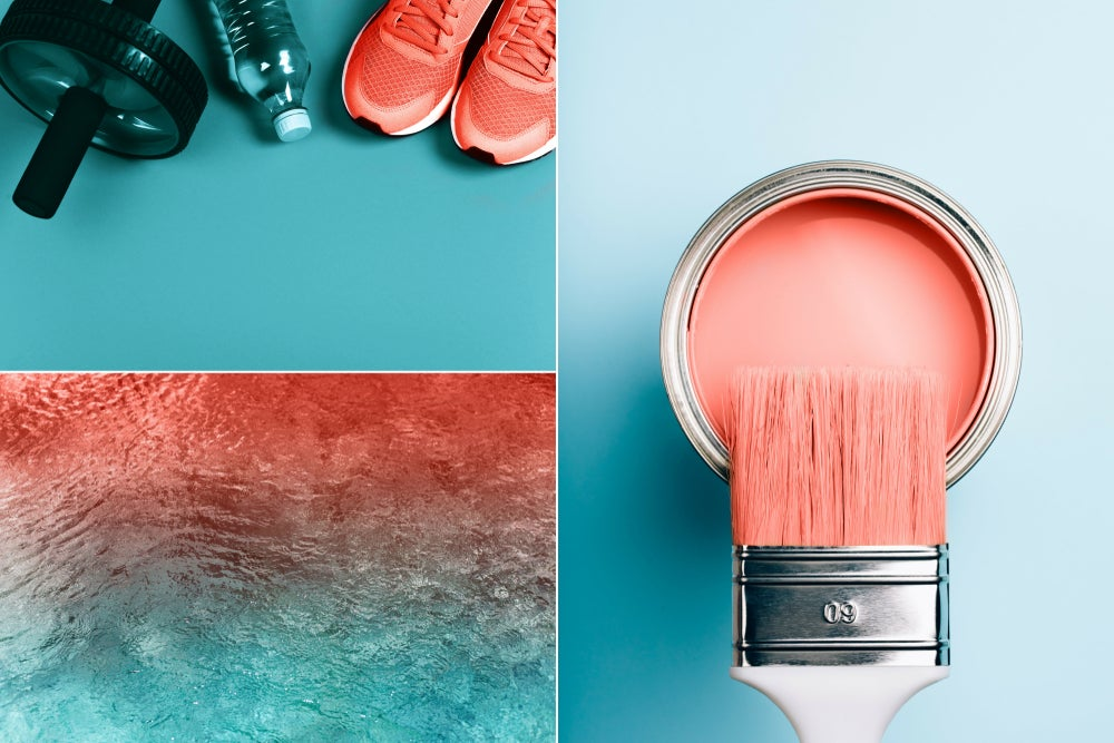 Color Living Coral.