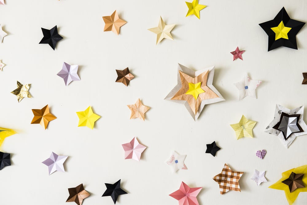 Decorar con estrellas de papel