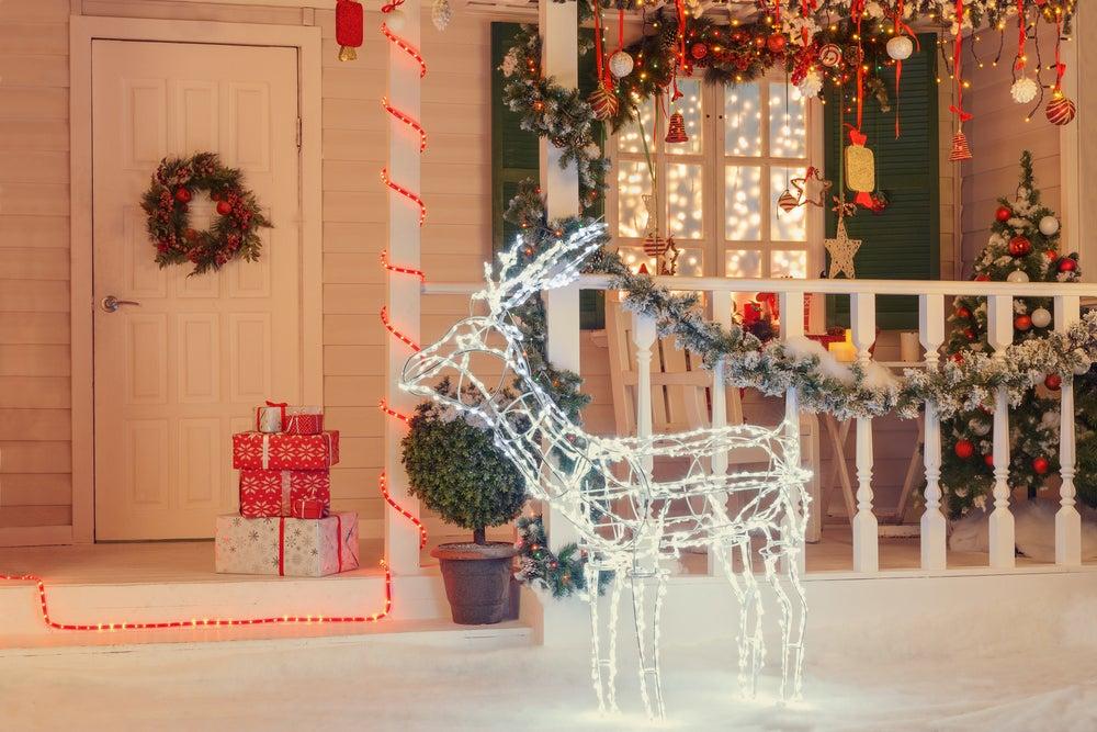 Cómo decorar la terraza en Navidad