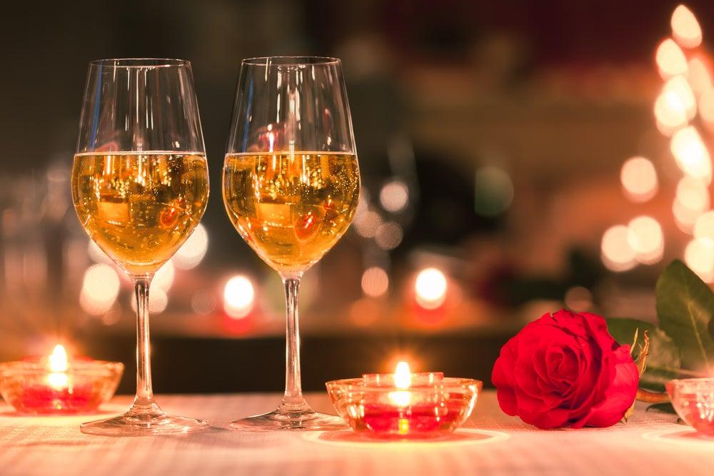 Espacio para una cena romántica.