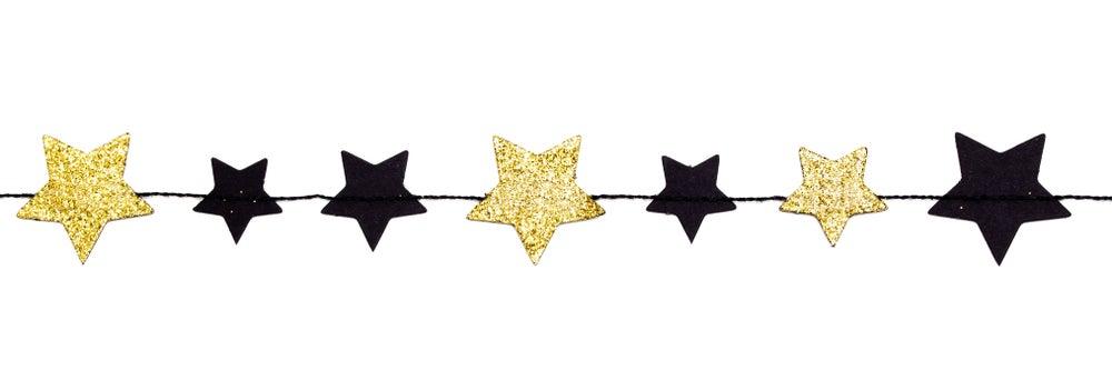 Guirnalda estrellas de papel.