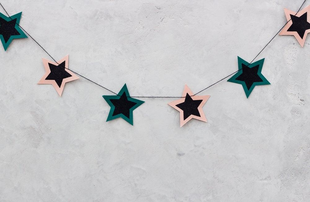 Guirnalda de estrellas.