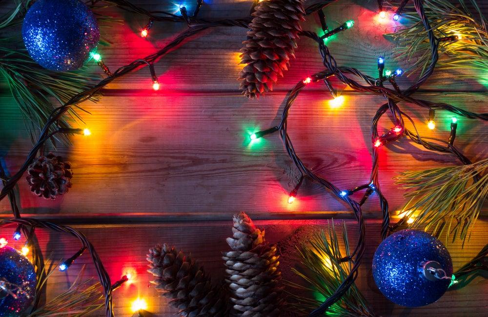 Luces de Navidad.