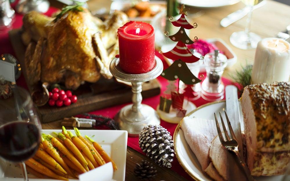 Menú para mesa de Navidad.