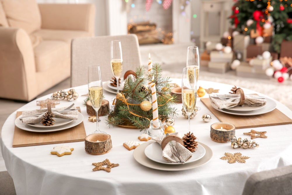 Mesa en Navidad.