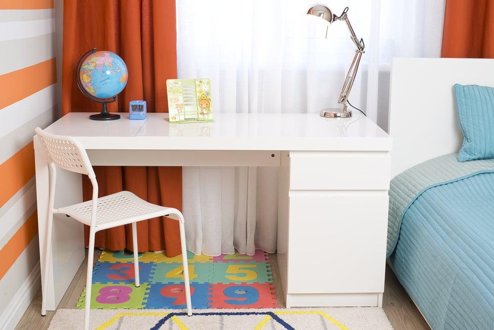 Mobiliario para una zona de estudio infantil.