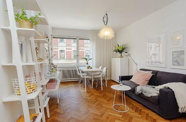 Los pisos de soltera deben decorarse de acuerdo al espacio.
