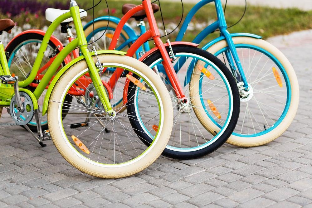 Rueda de bicicleta.