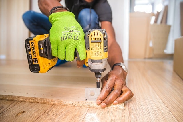 Wood is a soft material that is easy to drill.