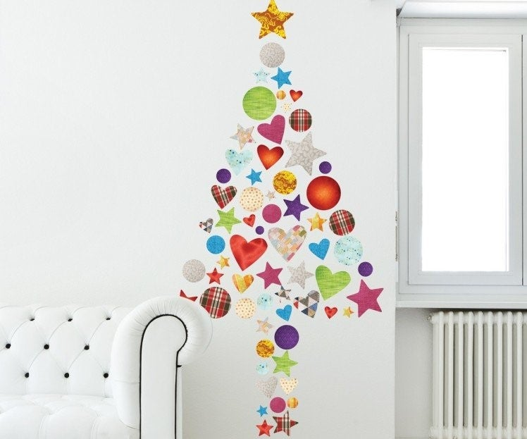 Vinilo de árbol de Navidad.