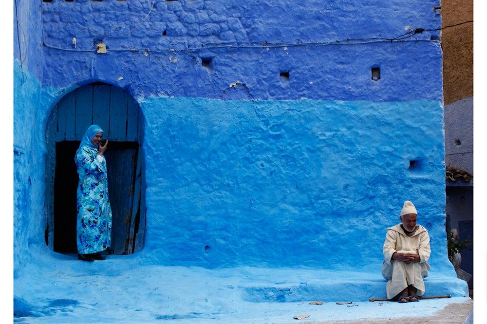 Los colores azules en la decoración de exteriores.