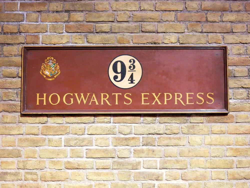 Cartel de Hogwarts express.