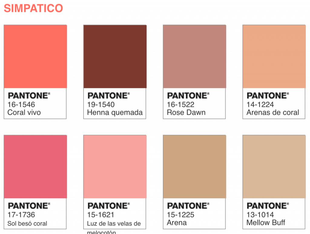Combinación de colores.