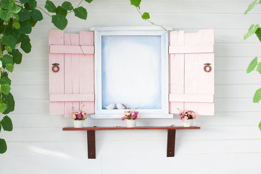 Contraventanas en rosa palo.
