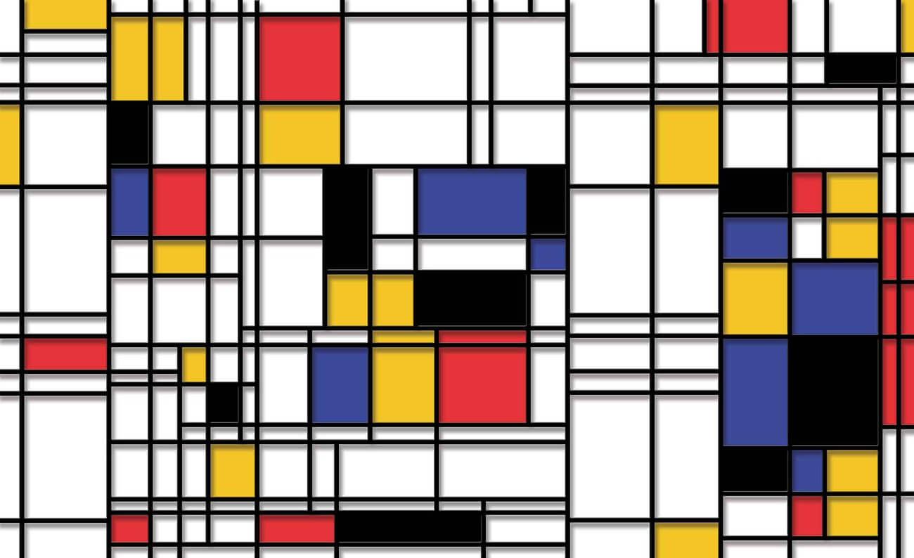 Cuadro de Mondrian.