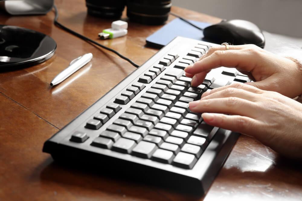 Decoración de un teclado vintage.