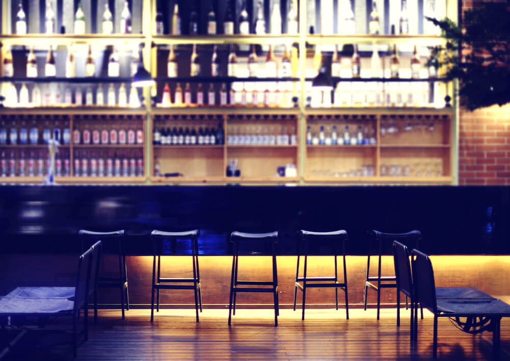 Aprovechamiento del espacio de un bar.