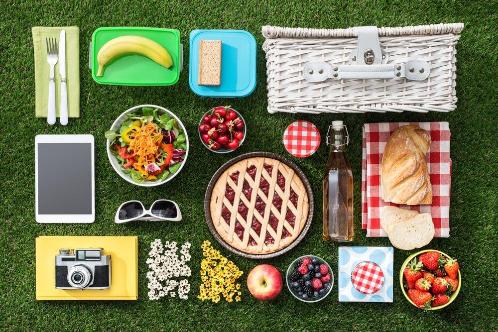 Elementos para un picnic.