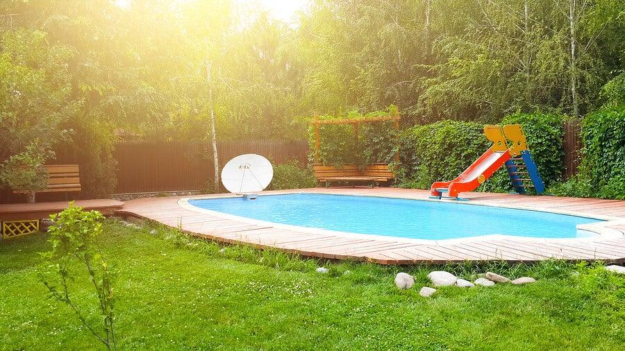 Emplazamiento de la piscina.
