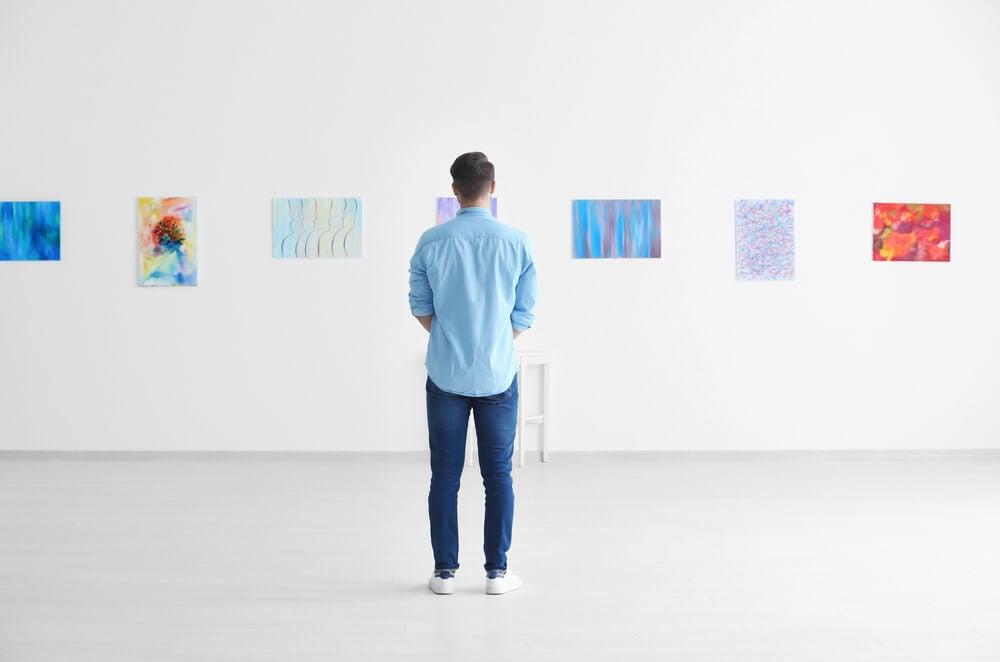 Espacio de una galería de arte.