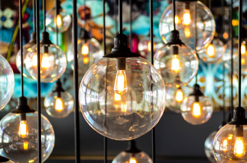 Iluminación en diseño de interiores.