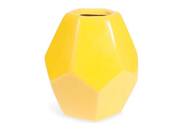 Jarrón amarillo ORIGAMI.