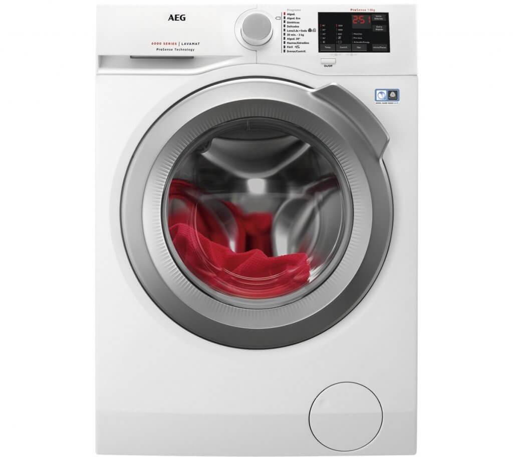 The high-tech AEG washer.