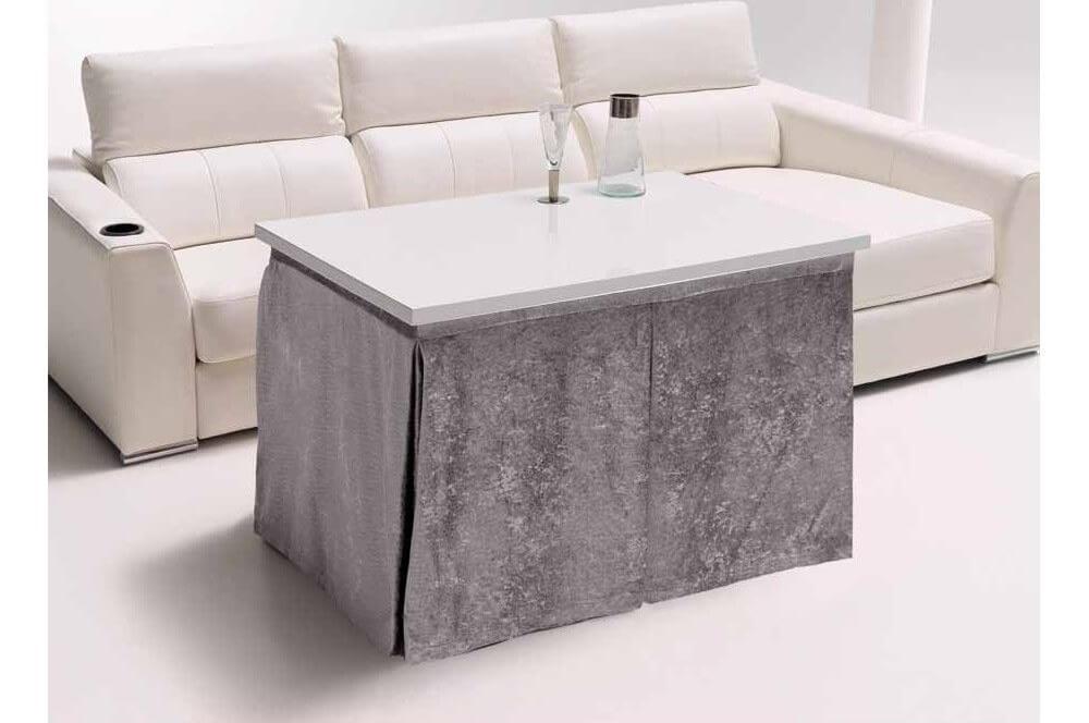 Mesa camilla rectangular.