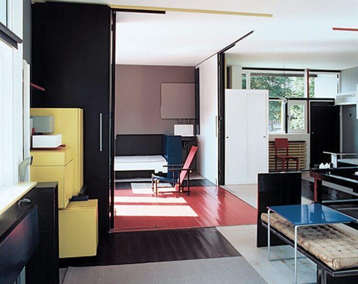 Mobiliario de la Casa Rietveld.