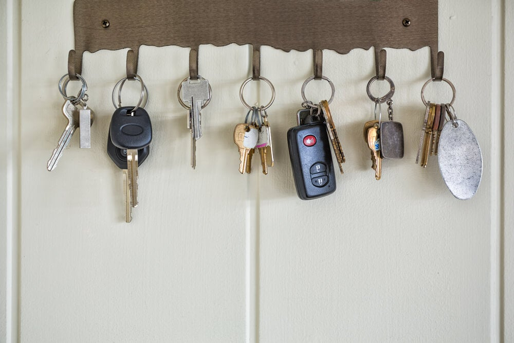 A key rack is a great way to organize your keys.